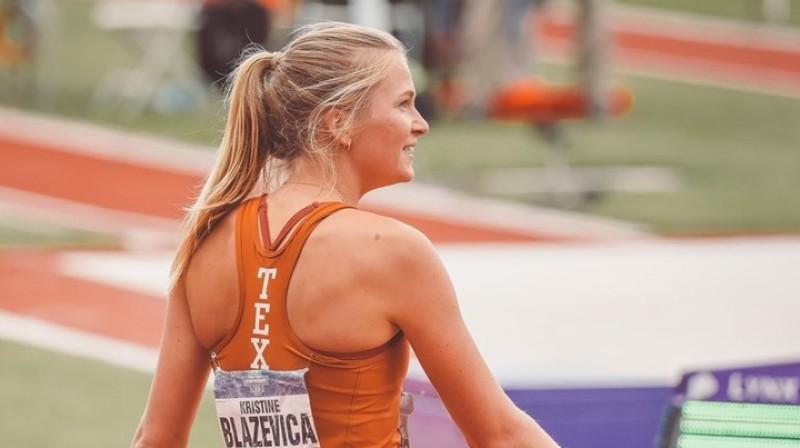 Kristīne Blaževiča. Foto: texassports.com