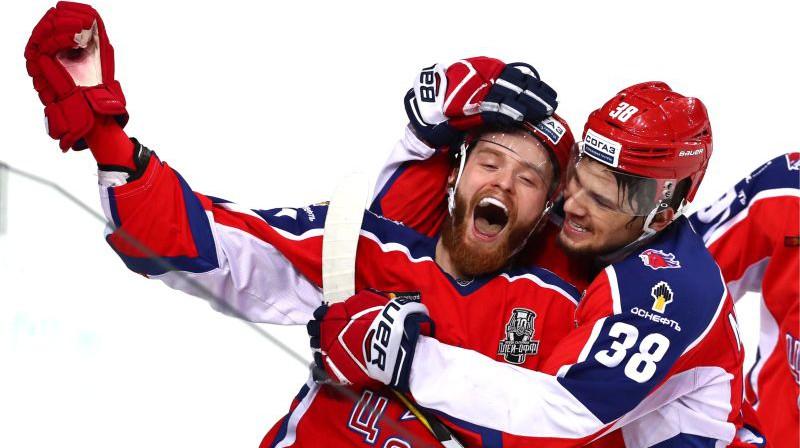 Mihails Grigorenko un Mihails Naumenkovs. Foto: Stanislav Krasilnikov/TASS/Scanpix
