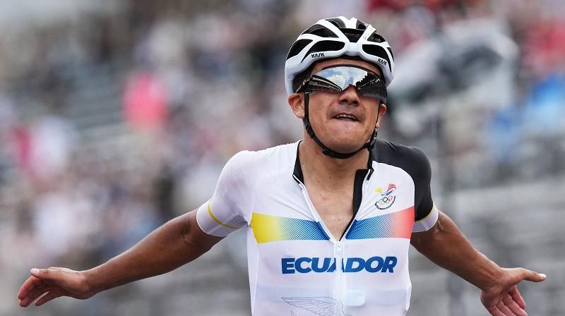 Ričards Karapass: otrā zelta medaļa Ekvadoras vēsturē. Foto: SIPA/Scanpix