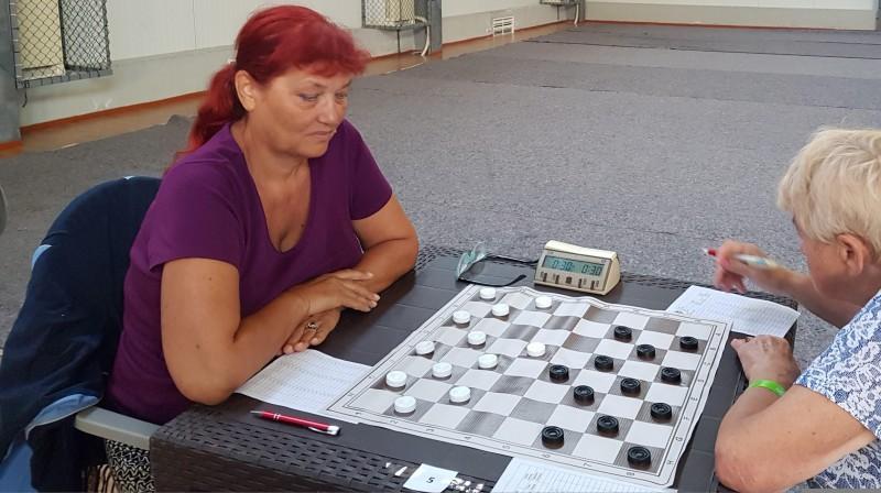 Jekaterina Tkačenko. Foto: Latvijas Dambretes federācija.