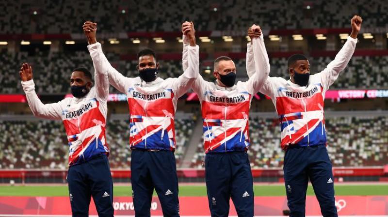 Lielbritānijas stafetes komanda. Foto: Reuters/Scanpix