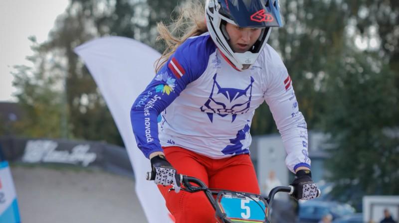 Eiropas čempione Veronika Stūriška no Silvas ziķeri BMX kluba  Foto: Sanda Balode
