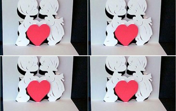 Uztaisi Valentīndienas apsveikumu kartiņu pats