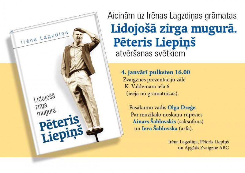 Izdota grāmata par Dailes teātra aktieri Pēteri Liepiņu