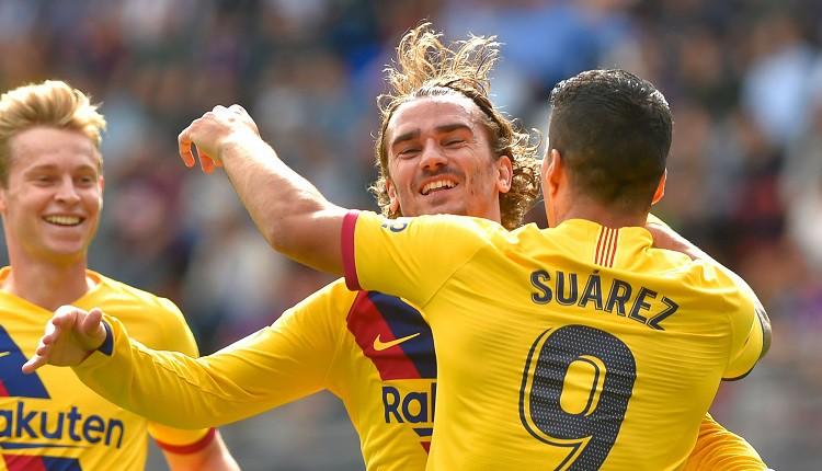 """Supertrio Grīzmans, Mesi un Svaress gūst pa vārtiem """"Barca"""" uzvarā"""