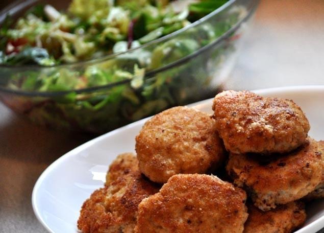 Gaļas, kartupeļu un miežu putraimu kotletes