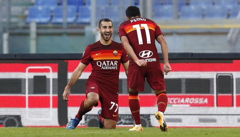 """Mhitarjanam divi vārti """"Roma"""" uzvarā, """"Inter"""" atspēlējas no 0:2 un uzvar """"Torino"""""""