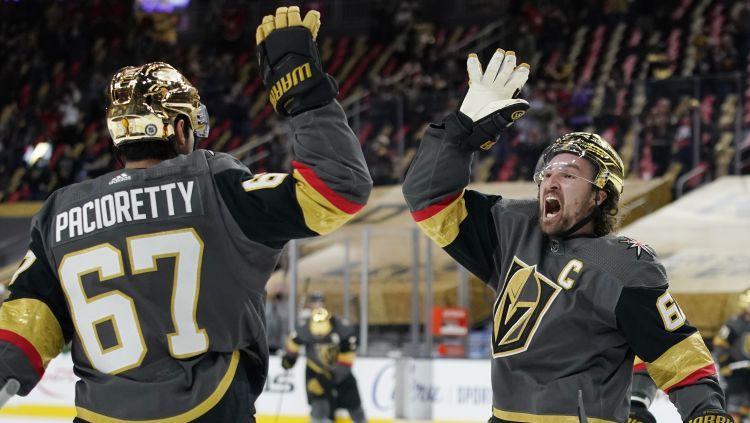 Vegasas kapteinim Stounam piecas piespēles, Lundestrema hat-trick neglābj Anaheimu
