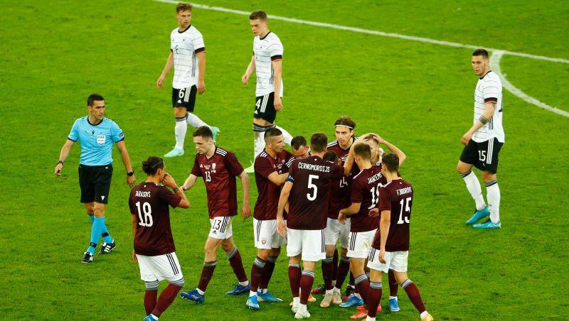 Vācijas TV vidējā auditorija spēlei pret Latviju – virs sešiem miljoniem cilvēku