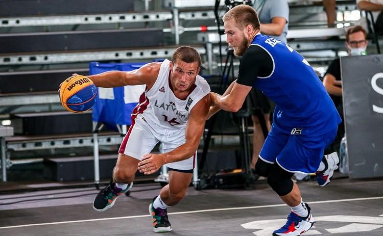 Latvijas U23 izlases Nāciju līgas 2. posmā 3x3 basketbolā ierindojas 3. un 5. vietā