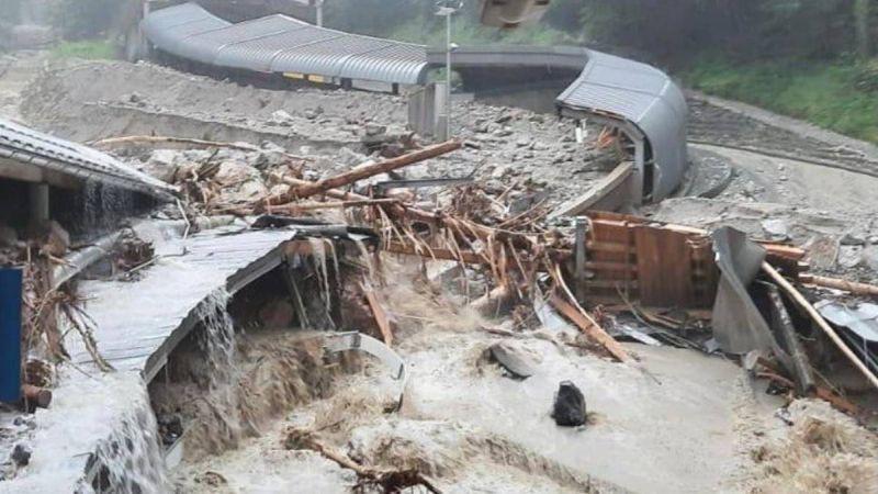 Plūdos pamatīgi cietusi Kēnigszē trase, atjaunošana prasīs vismaz gadu